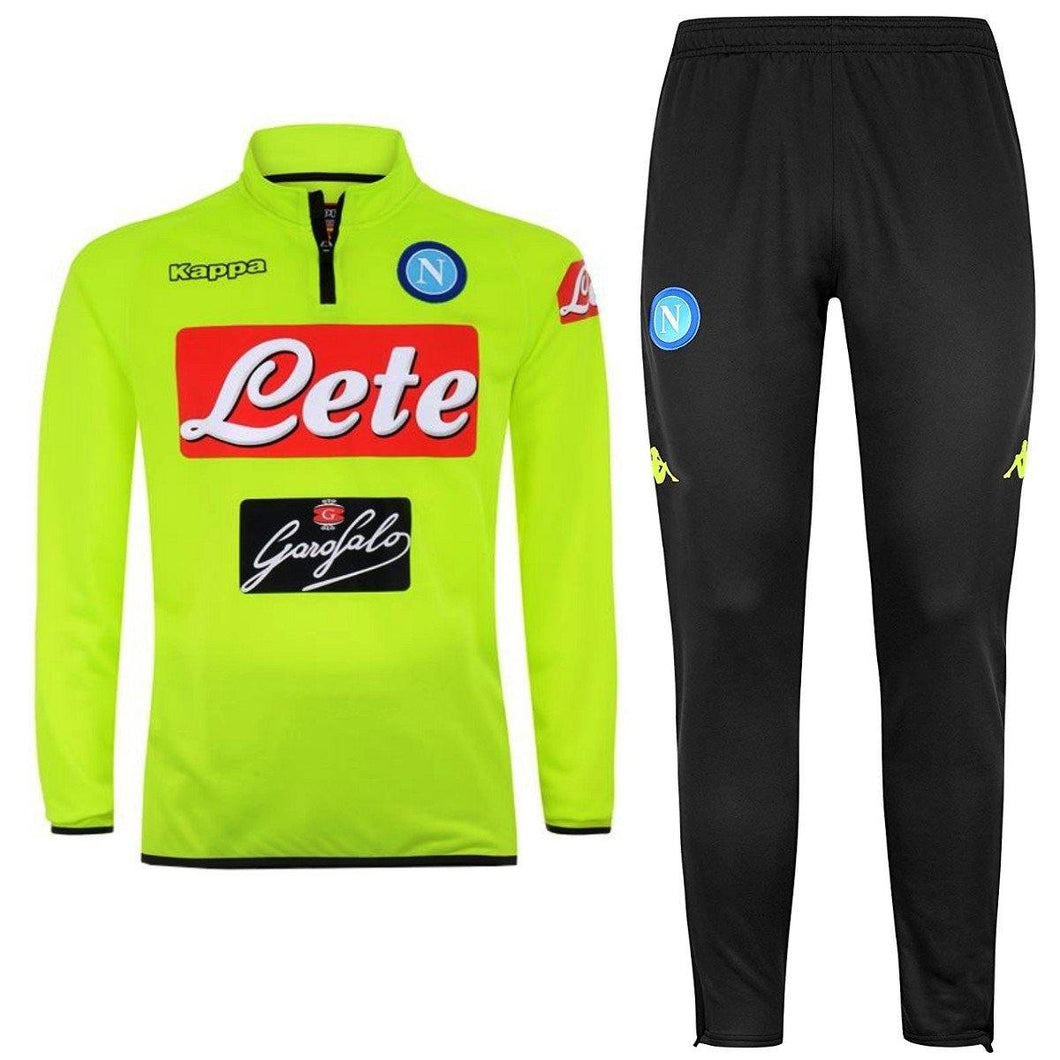 Ssc Napoli Fluo Training Technical Soccer Tracksuit 2018 19 - Kappa ... 7998bf558e8bd