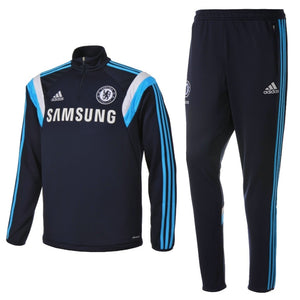 Fc Chelsea Blue Training Technical Soccer Tracksuit  2014/15 - Adidas - SoccerTracksuits.com