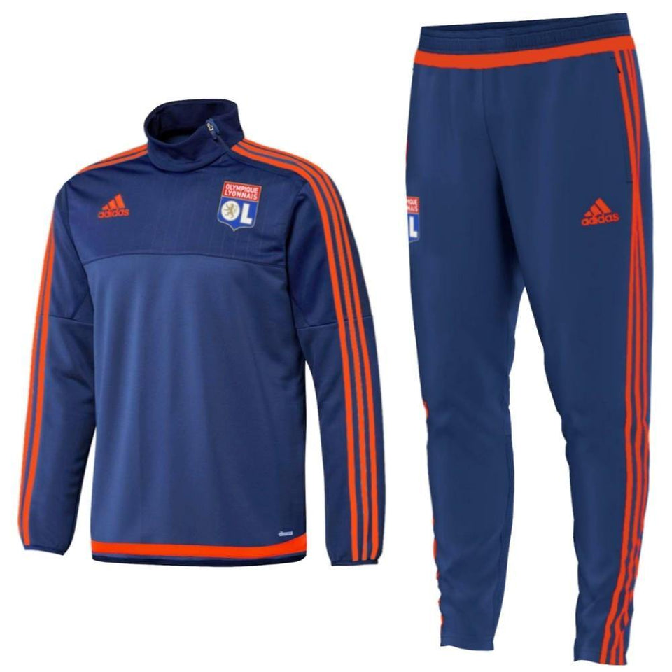 Olympique Lyon Technical Training Soccer Tracksuit 2015/16 - Adidas - SoccerTracksuits.com