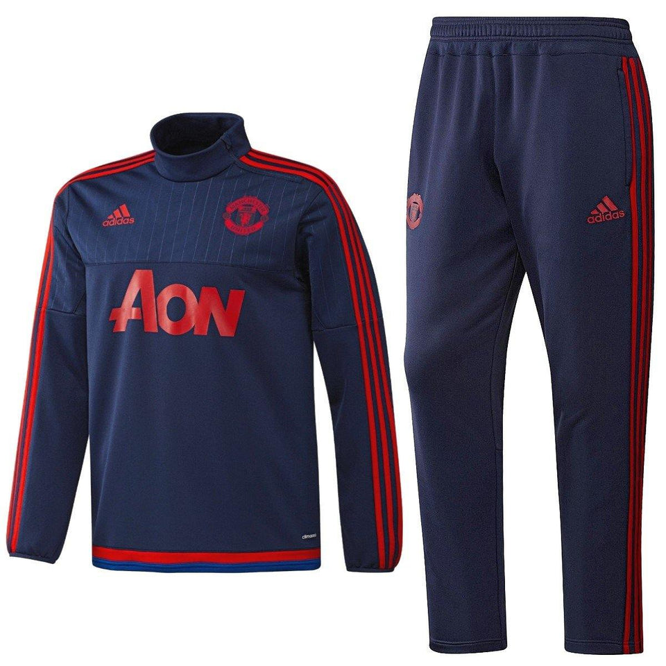 Manchester United Technical Training Soccer Tracksuit 2015/16 - Adidas - SoccerTracksuits.com