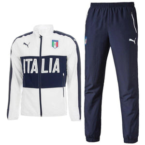 Italy National Team Presentation Soccer Tracksuit 2016/17 White - Puma - SoccerTracksuits.com