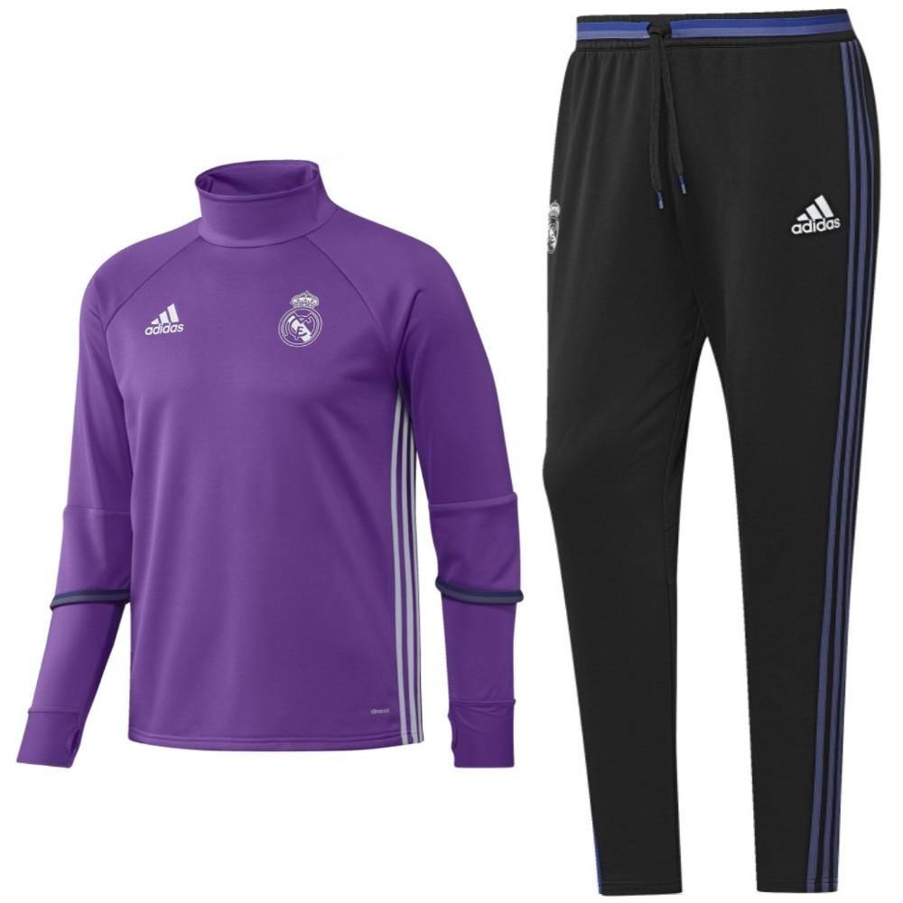 Real Madrid Technical Training Soccer Tracksuit 2016/17 Purple - Adidas - SoccerTracksuits.com