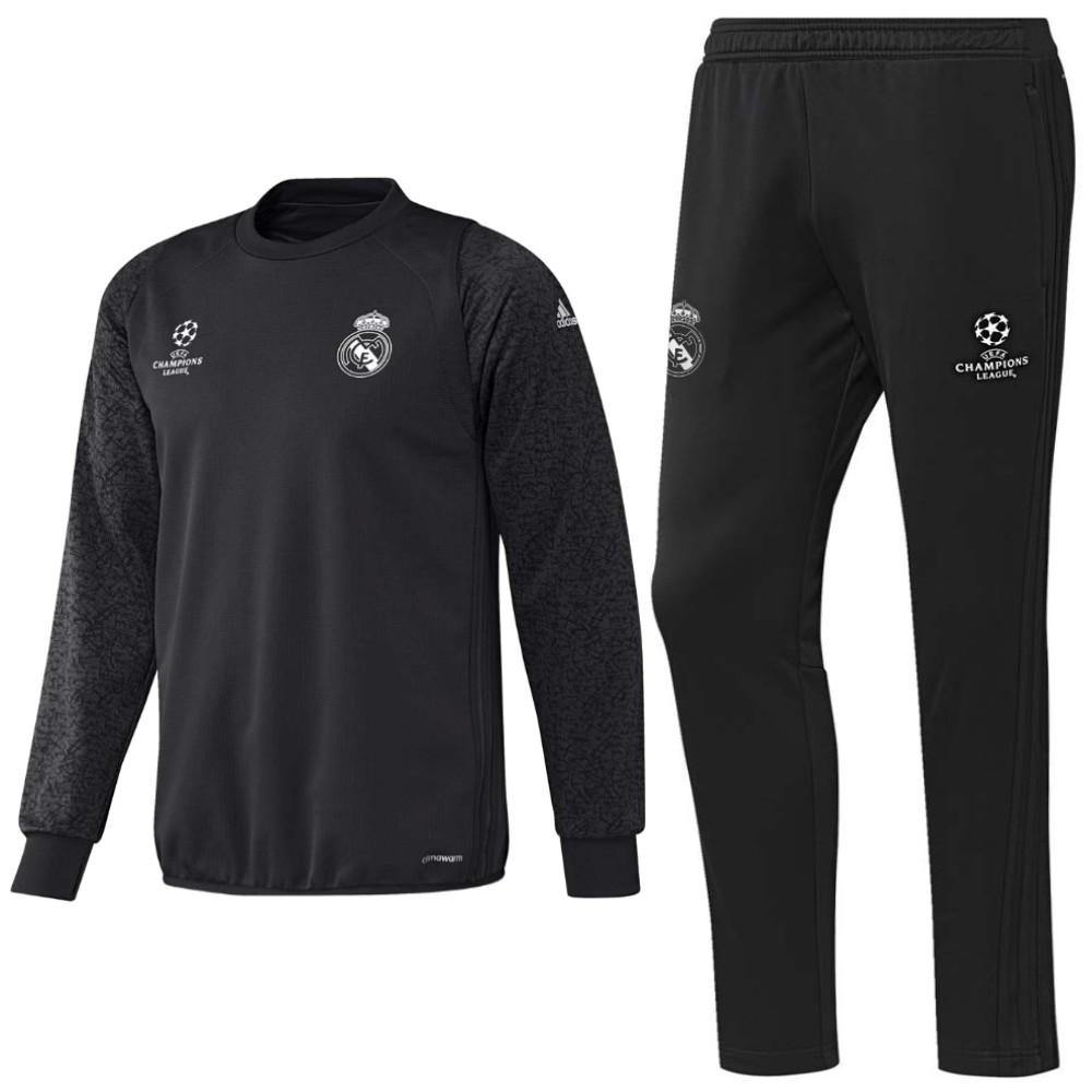 01ba46e76 Real Madrid Ucl Sweat Training Soccer Tracksuit 2016 17 Carbon - Adida –  SoccerTracksuits.com