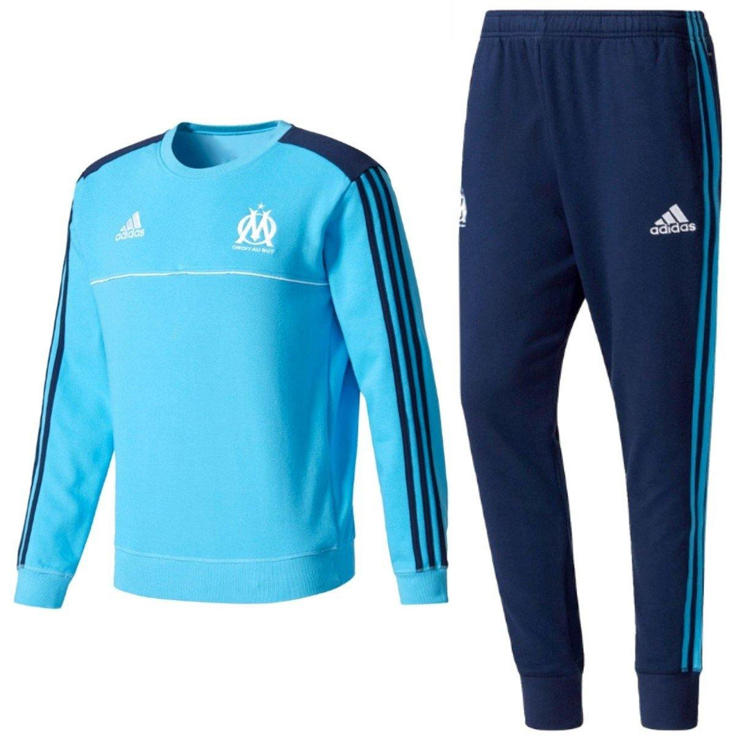 Olympique Marseille Training Sweat Soccer Tracksuit 2017/18 - Adidas - SoccerTracksuits.com