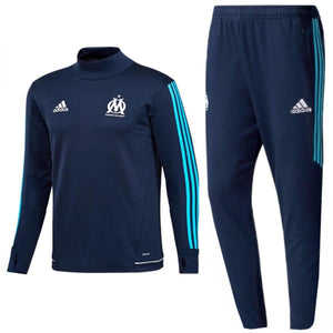 Olympique Marseille Technical Training Soccer Tracksuit 2017/18 Navy - Adidas - SoccerTracksuits.com