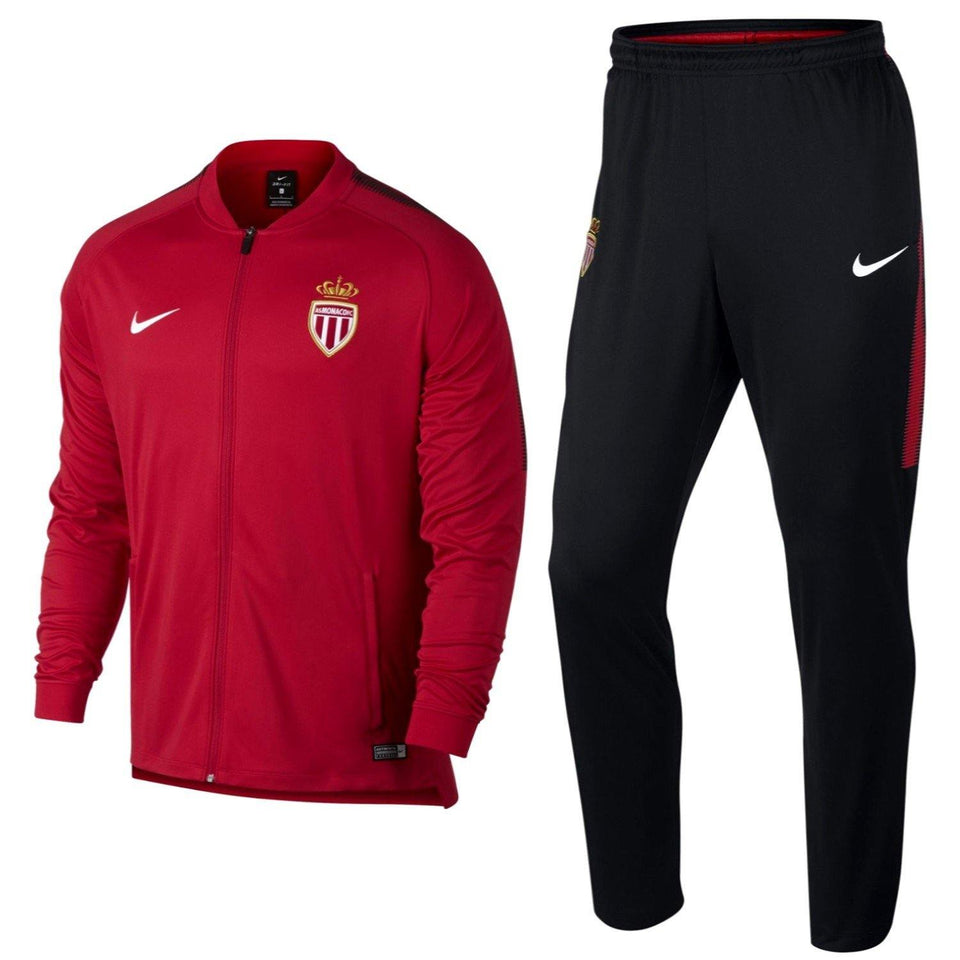 As Monaco Training Presentation Soccer Tracksuit 2017/18 - Nike - SoccerTracksuits.com