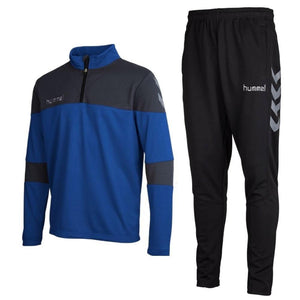 Hummel Teamwear Sirius Technical Training Soccer Tracksuit - Blue/Black - SoccerTracksuits.com