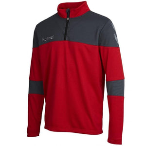 Hummel Teamwear Sirius Technical Training Soccer Tracksuit - Red/Black - SoccerTracksuits.com