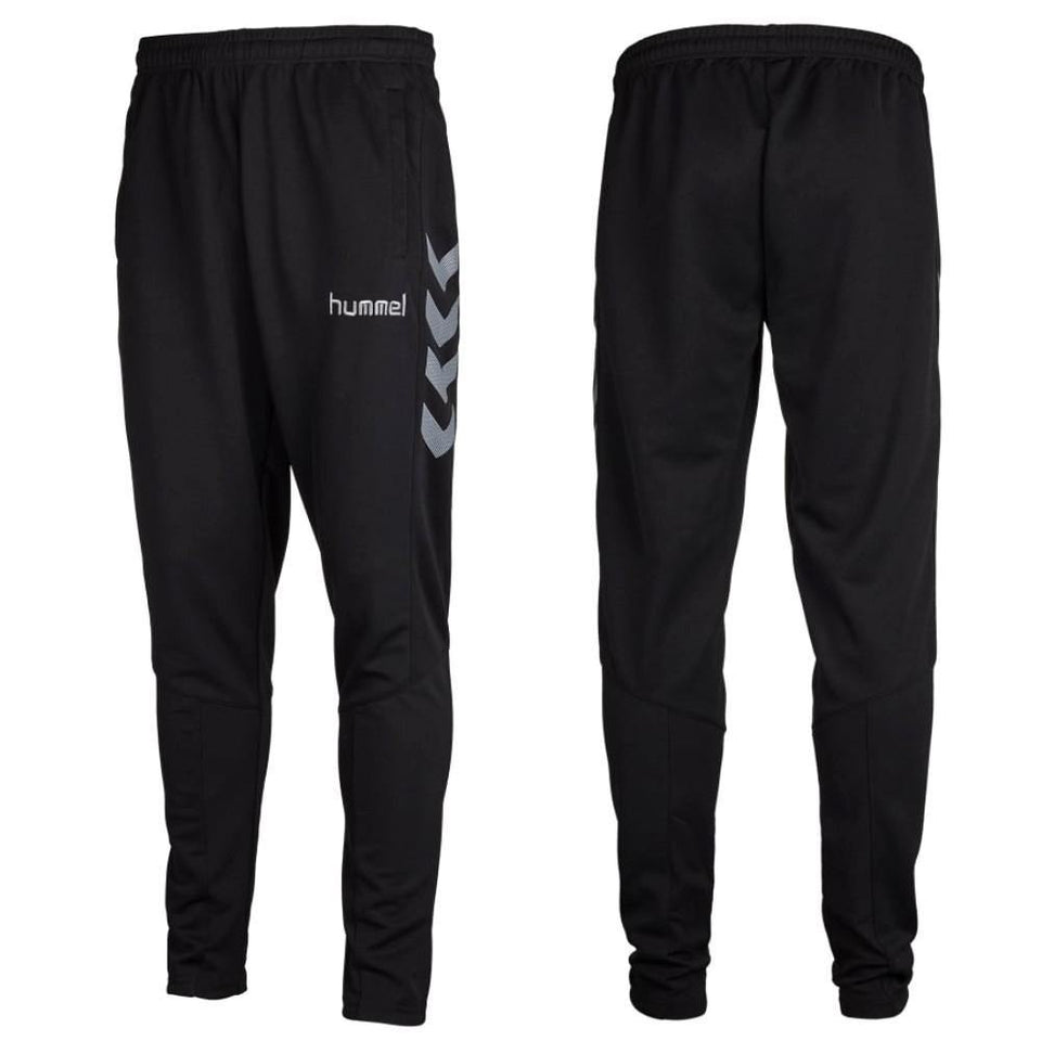 Hummel Teamwear Sirius Technical Training Soccer Tracksuit - Grey/Black - SoccerTracksuits.com