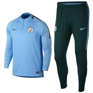 Manchester City Ucl Training Technical Soccer Tracksuit 2017/18 - Nike - SoccerTracksuits.com