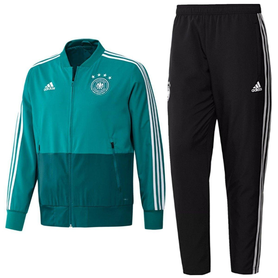 Germany green presentation Soccer Tracksuit 2018/19 - Adidas - SoccerTracksuits.com