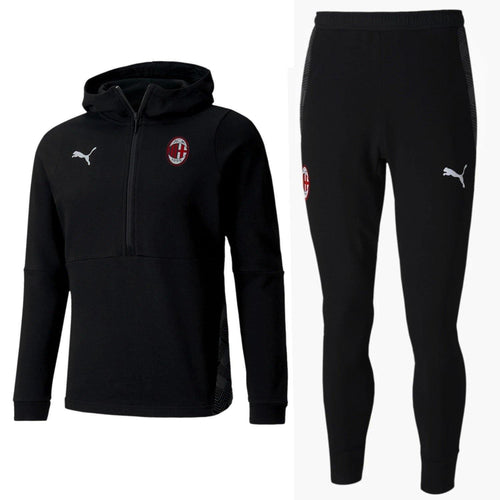 AC Milan black Casual hooded presentation tracksuit 2020/21 - Puma