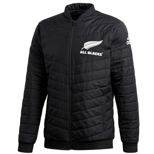 All Blacks New Zealand rugby black light bomber jacket 2019/20 - Adidas - SoccerTracksuits.com