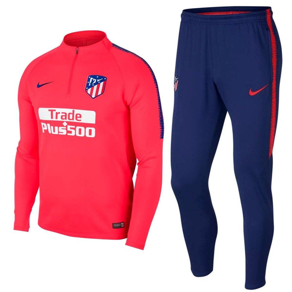 Atletico Madrid crimson soccer technical training tracksuit 2019 - Nike - SoccerTracksuits.com