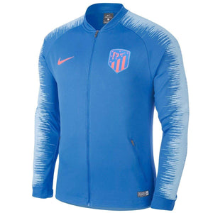 Atletico Madrid soccer Anthem presentation jacket 2018/19 light blue - Nike - SoccerTracksuits.com