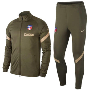 Atletico Madrid green training presentation soccer tracksuit 2020/21 - Nike