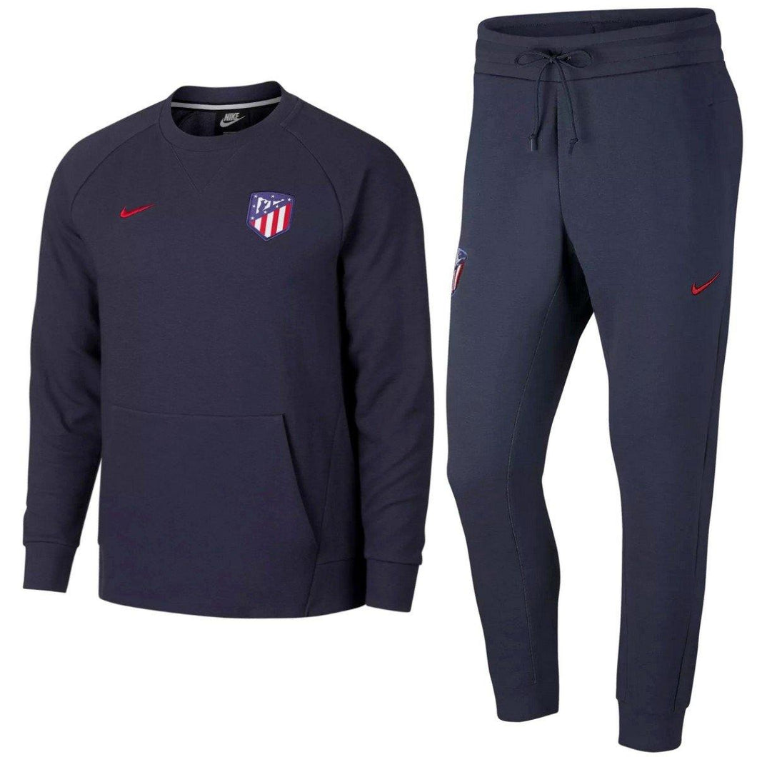 Atletico Madrid sweat casual presentation soccer tracksuit 2018/19 - Nike - SoccerTracksuits.com