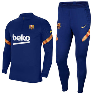 FC Barcelona soccer navy training technical tracksuit 2020/21 - Nike