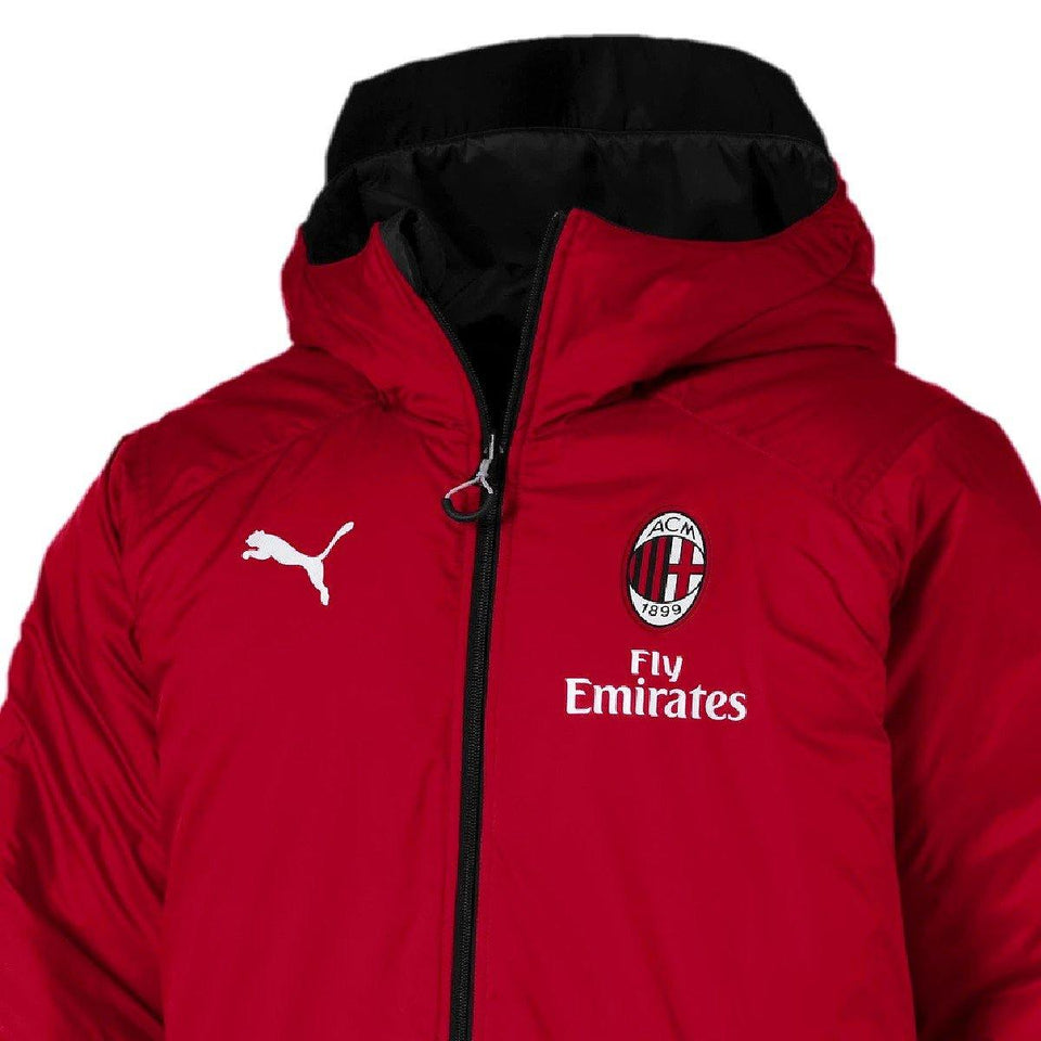 AC Milan soccer training bench reversible jacket 2019/20 - Puma - SoccerTracksuits.com