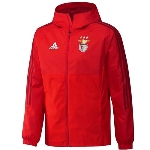 Benfica Lisbon soccer red training rain jacket 2018 - Adidas