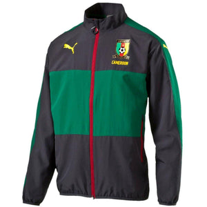 Cameroon soccer team training presentation jacket 2016/18 - Puma - SoccerTracksuits.com