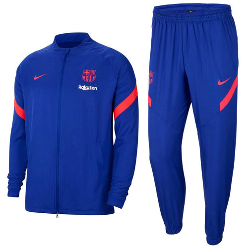 FC Barcelona blue training presentation soccer tracksuit 2021 - Nike