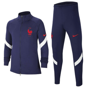 Kids - France training presentation Soccer tracksuit 2020/21 navy - Nike