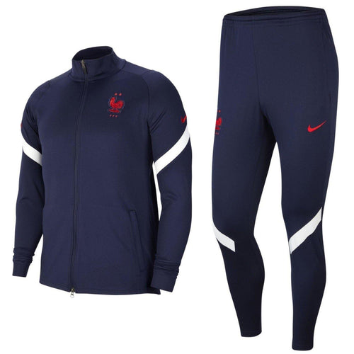 France training presentation Soccer tracksuit 2020/21 navy - Nike