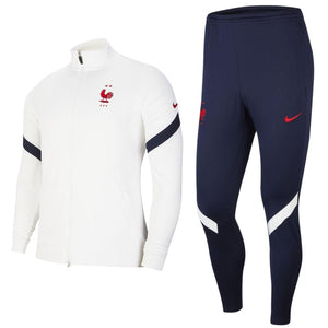 France training presentation Soccer tracksuit 2020/21 white/navy - Nike