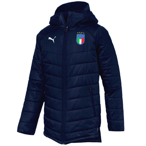 Italy soccer padded training bench jacket 2018/20 - Puma - SoccerTracksuits.com