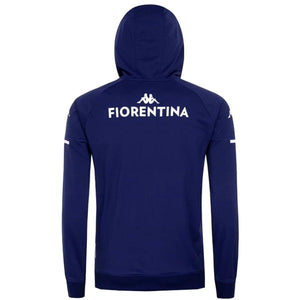 AC Fiorentina navy hooded presentation soccer tracksuit 2020/21 - Kappa