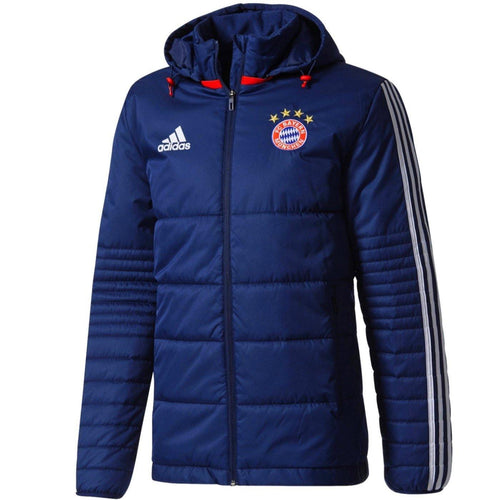Bayern Munich winter training bench soccer jacket 2018 - Adidas - SoccerTracksuits.com