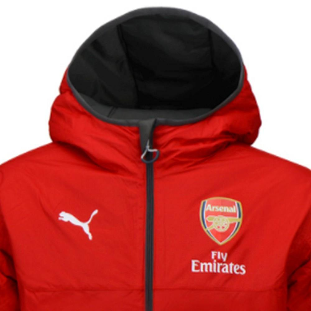 6b031a1a3 Arsenal training technical reversible soccer jacket 2017/18 grey/red - –  SoccerTracksuits.com