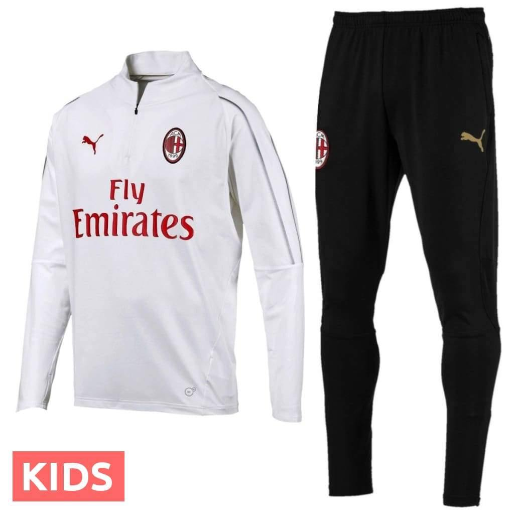Kids AC Milan Training Technical Soccer Tracksuit 201819 Puma