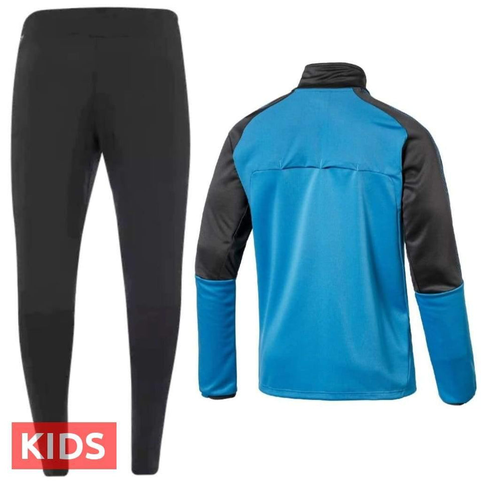 Kids - Arsenal FC blue Technical Training Soccer Tracksuit 2017/18 - Puma - SoccerTracksuits.com