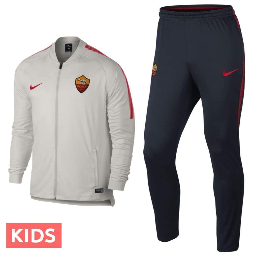 Kids - AS Roma Training Presentation Soccer Tracksuit 2018 - Nike - SoccerTracksuits.com