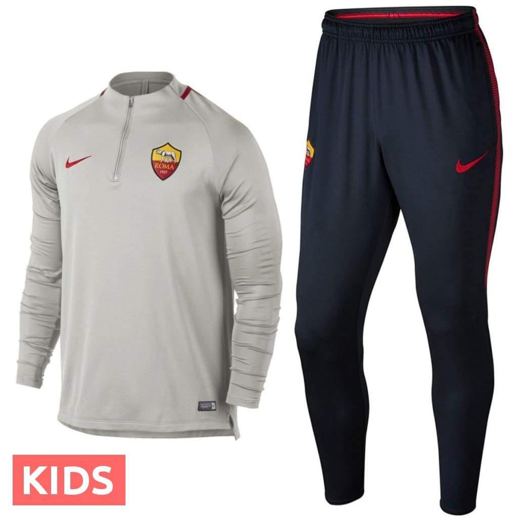 Kids - AS Roma Training Technical Soccer Tracksuit 2018 - Nike - SoccerTracksuits.com