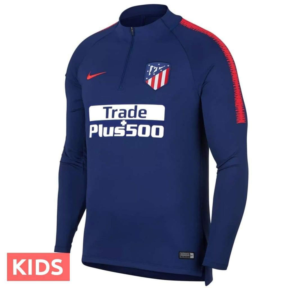 Kids - Atletico Madrid Blue Technical Training Soccer Tracksuit 2018/19 - Nike - SoccerTracksuits.com