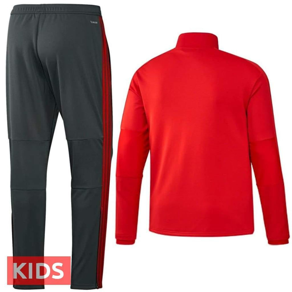 Kids - Bayern Munich Training Players Soccer Tracksuit 2018/19 - Adidas - SoccerTracksuits.com