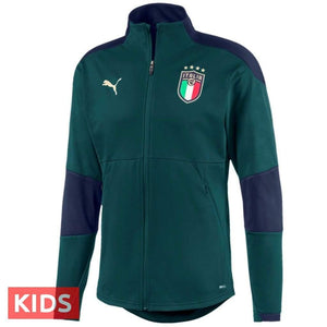 Kids - Italy national team green training Soccer tracksuit 2019 - Puma - SoccerTracksuits.com