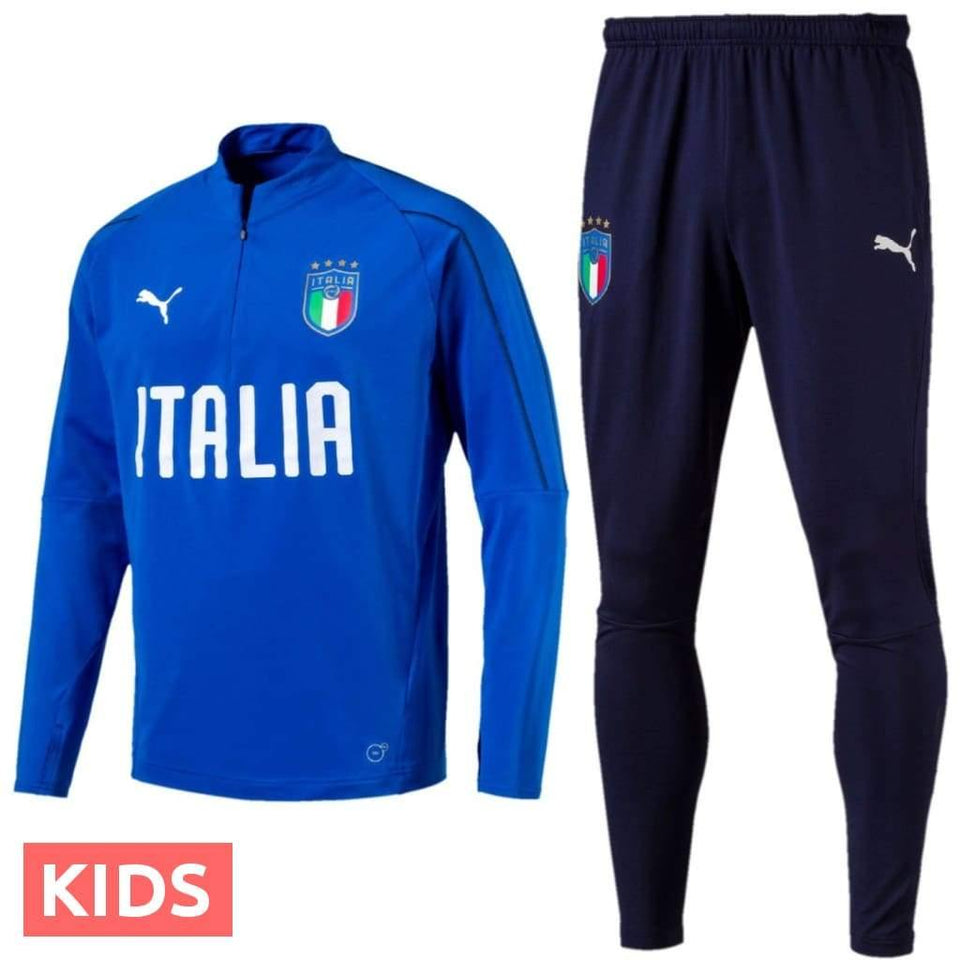 Kids - Italy Technical Training Soccer Tracksuit 2018/19 - Puma - SoccerTracksuits.com