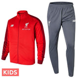 Kids - Liverpool Fc red/grey presentation Soccer tracksuit 2018/19 - New Balance - SoccerTracksuits.com