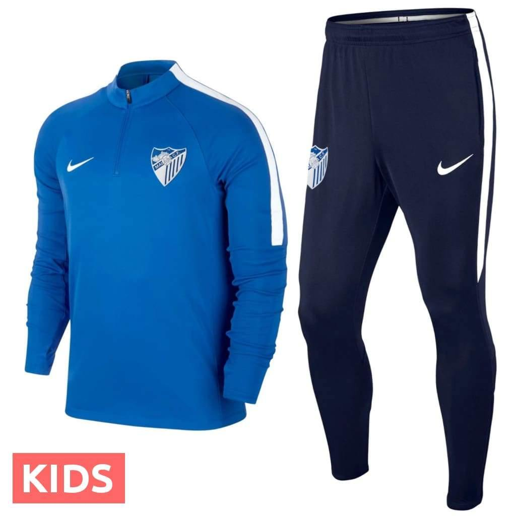 Kids - Malaga CF soccer training technical tracksuit 2018/19 - Nike - SoccerTracksuits.com