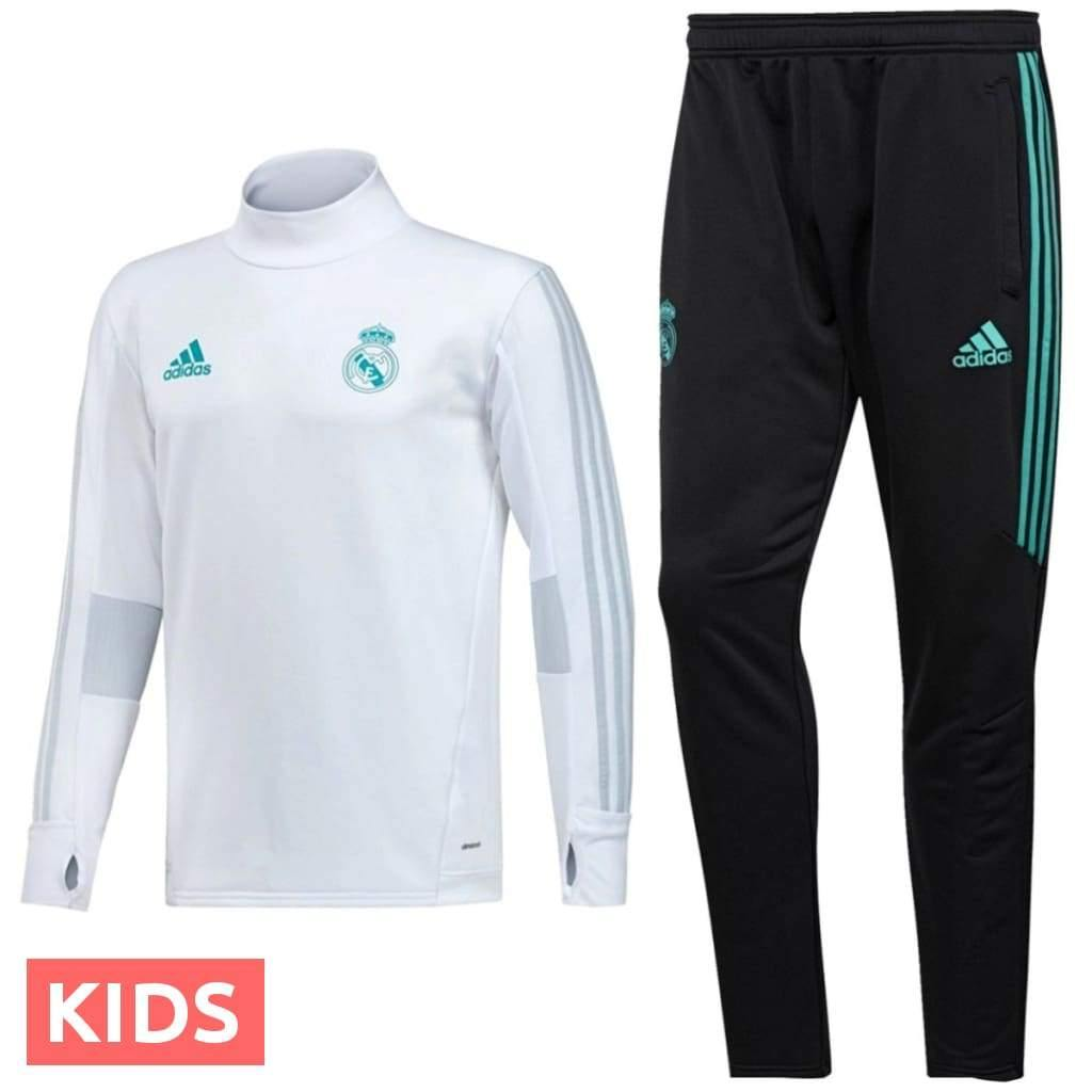 promo code 5974a ce6be Kids - Real Madrid Training Technical Soccer Tracksuit 2017/18 - Adidas