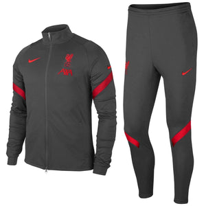 Liverpool FC grey training presentation soccer tracksuit 2020/21 - Nike