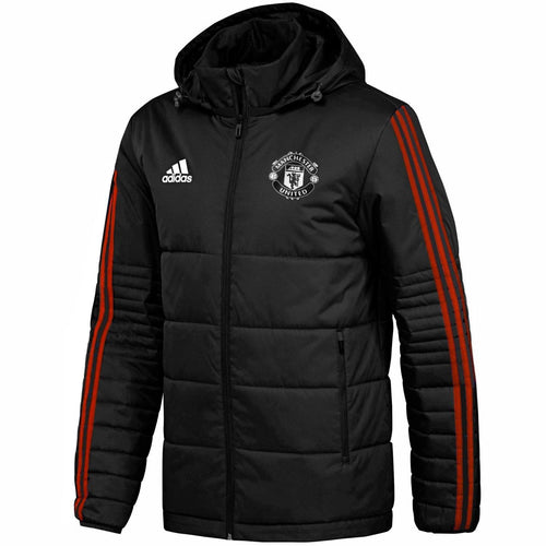 Manchester United UCL winter training bench soccer jacket 2018 - Adidas - SoccerTracksuits.com
