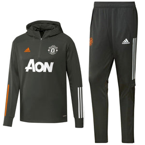 Manchester United hooded training technical tracksuit 2020/21 - Adidas