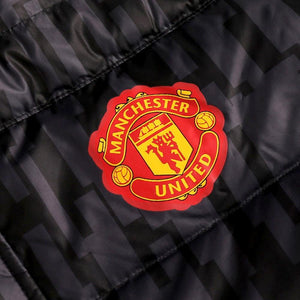 Manchester United soccer long bench padded jacket 2017/18 - Adidas - SoccerTracksuits.com