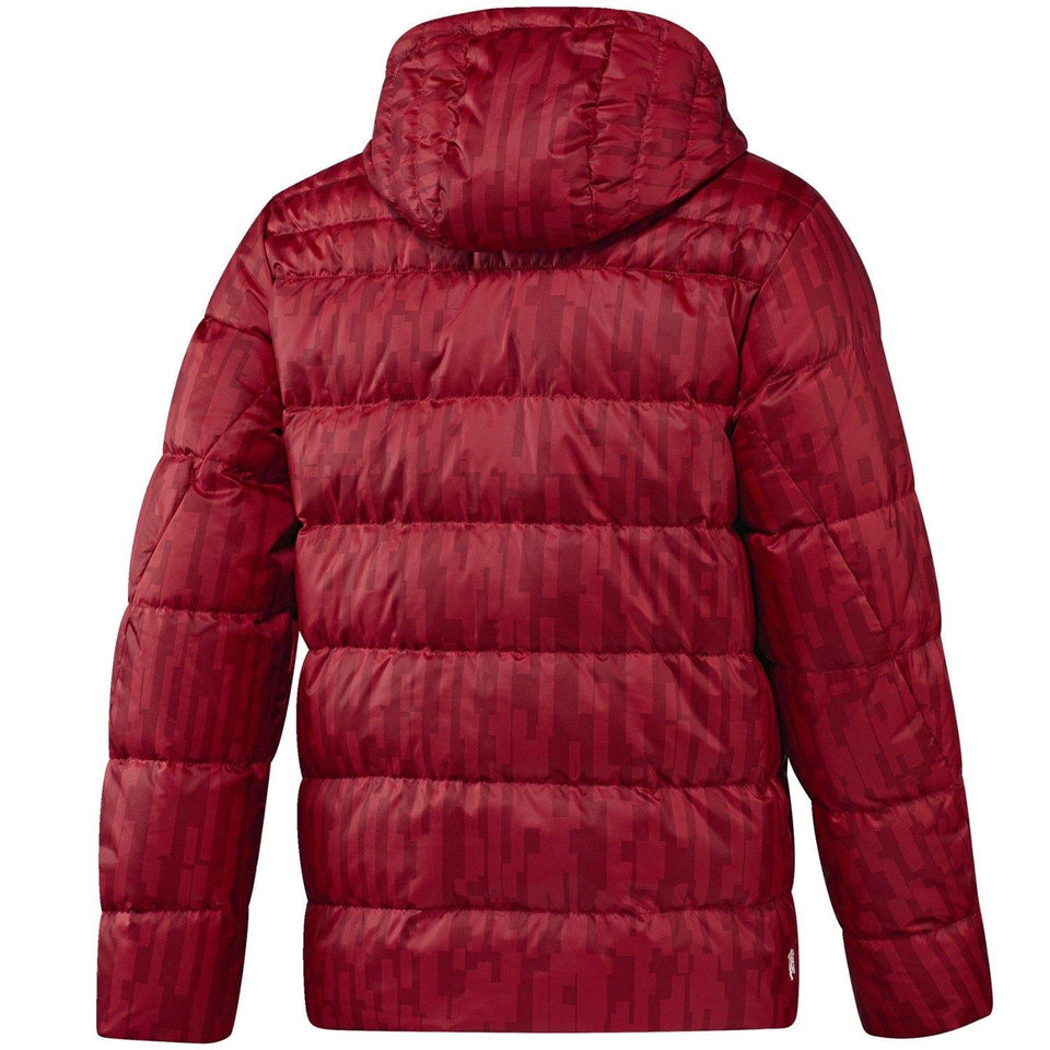 39c1b7d2101c6 ... Manchester United soccer red training bench padded jacket 2017 18 -  Adidas ...