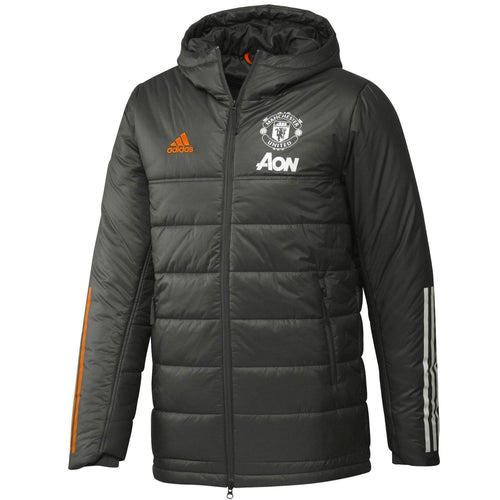 Manchester United soccer green bench padded jacket 2020/21 - Adidas